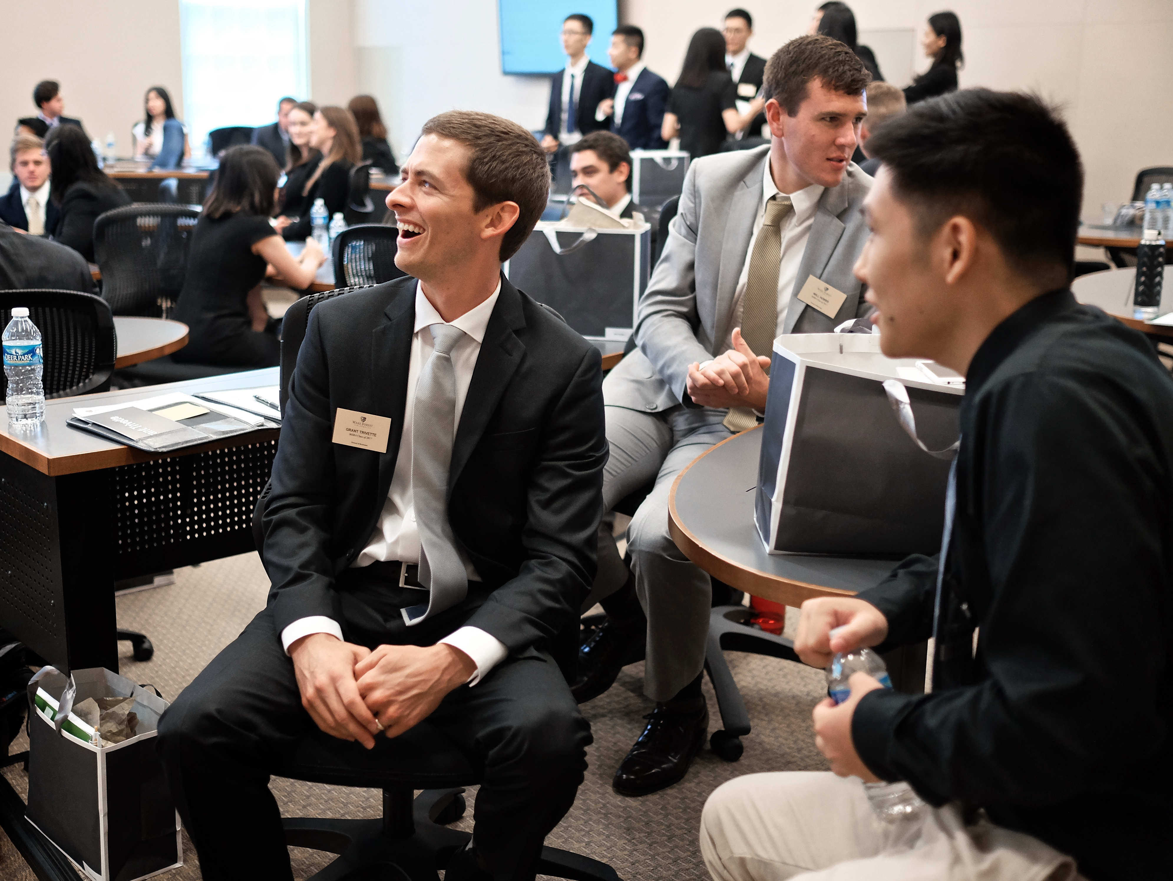 Wake Forest University School of Business held orientation for incoming MSBA students in Farrell Hall 7/7/16.