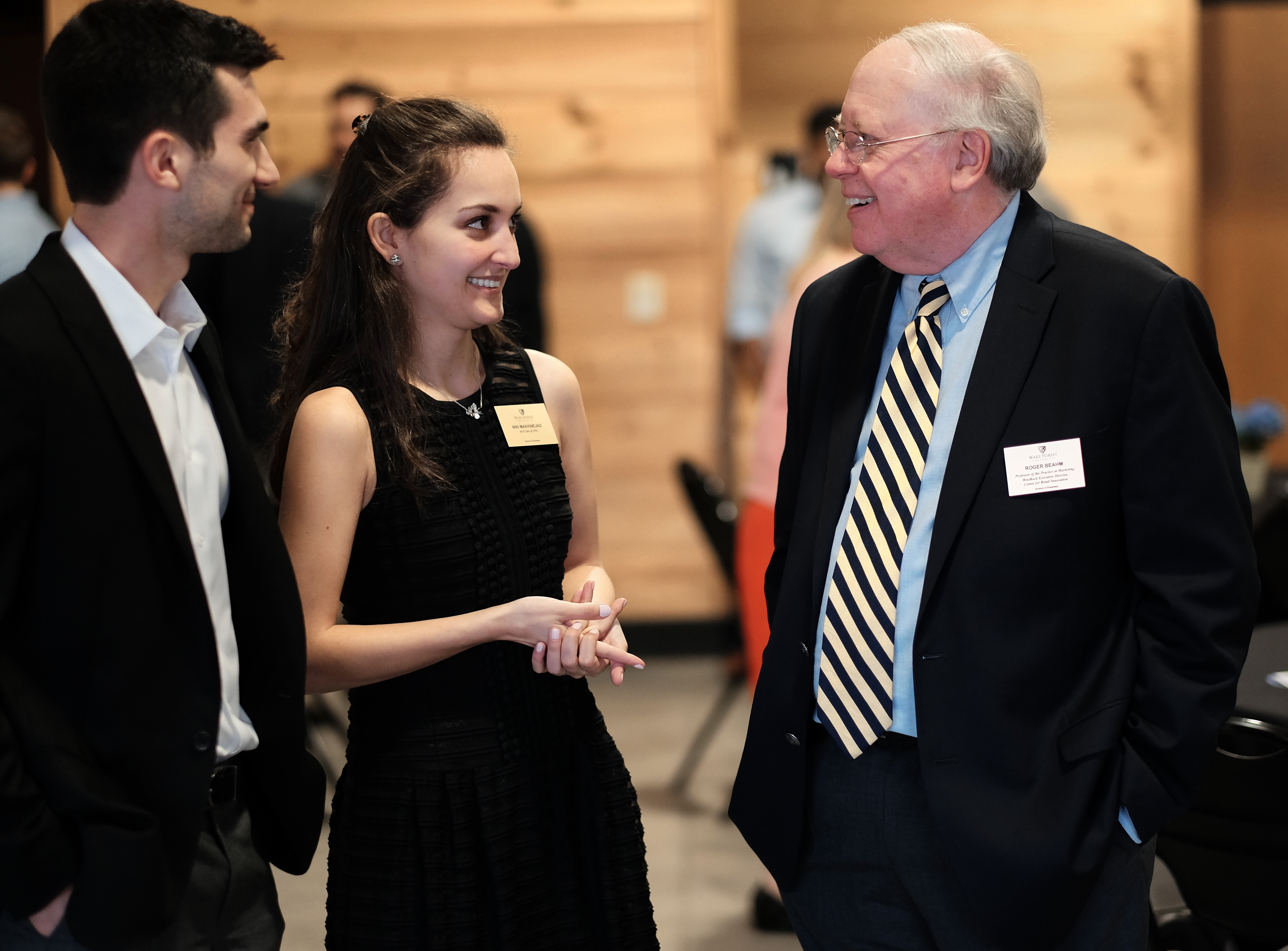 The 2016 Marketing Analytics Summit / Inmar Analytics Forum held their reception and dinner in the Barn on the WFU Campus. Undergrad winners were announced and graduate top teams advanced to the next day competition.