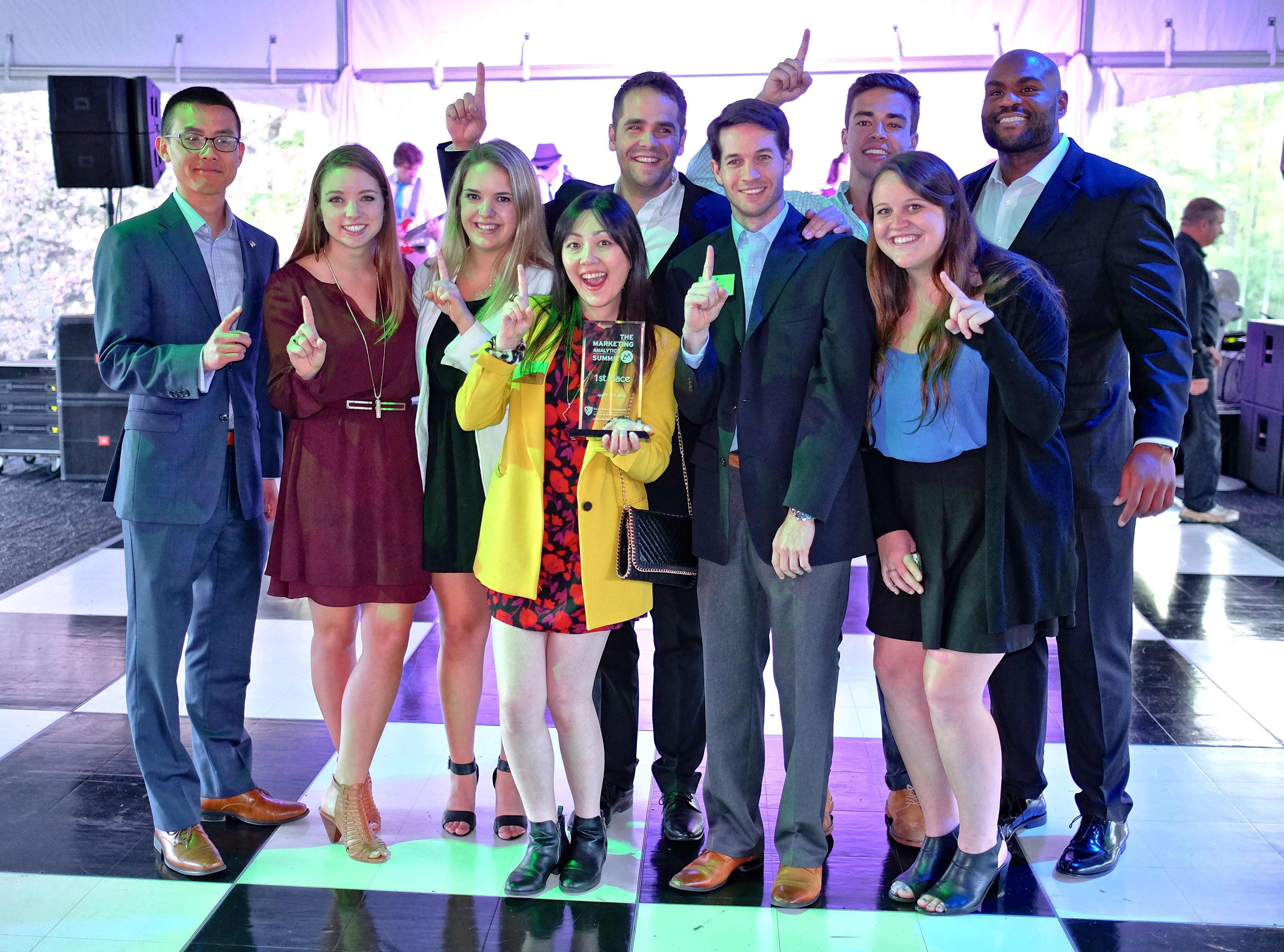 The 2016 Marketing Analytics Summit / Inmar Analytics Forum held their Graduate Level Final Competititon Awards at the Graylyn Estate in Winston-Salem.